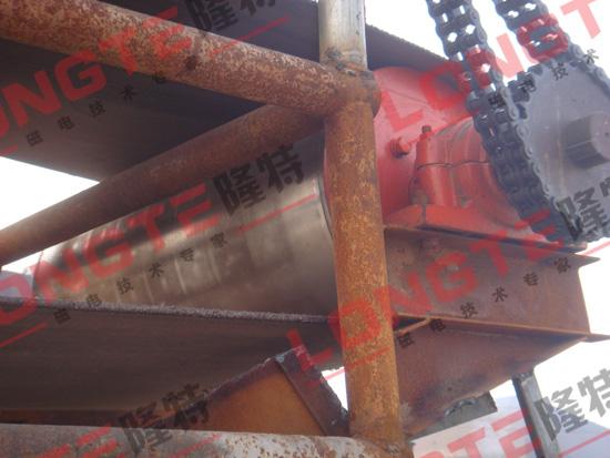 隆特公司永磁滚筒在河北钢铁使用现场