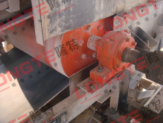 潍坊隆特永磁滚筒在华润水泥投入使用
